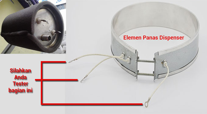 elemen panas dispenser