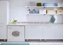 ide penempatan mesin cuci
