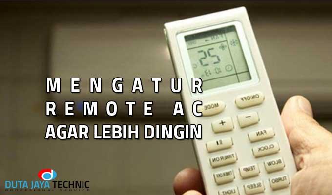 mengatur remote ac