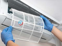 mengganti filter AC