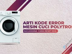 kode error mesin cuci polytron