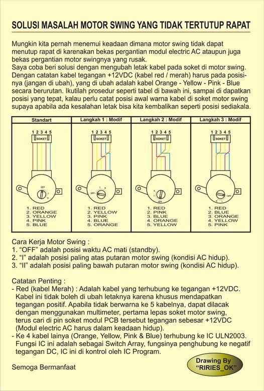 urutan kabel motor swing